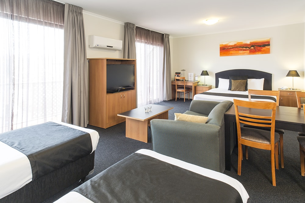 Alpha Hotel Canberra Family Room with Living Queen